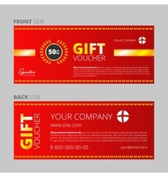Design of voucher and gift certificate vector