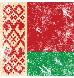 Belarus retro flag vector image