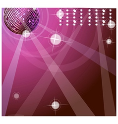background with disco ball vector image vector image