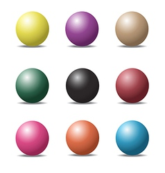 ball set 1 vector image vector image