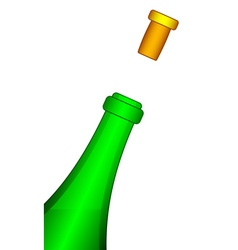 Bottle and cork vector