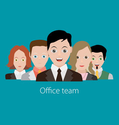 Business people group color profile human vector