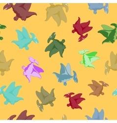 Cartoon flying dinosaur vector