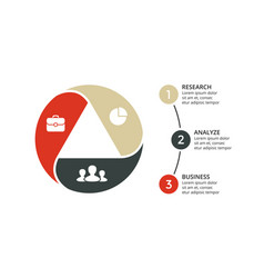 Circle arrows triangle infographic cycle vector