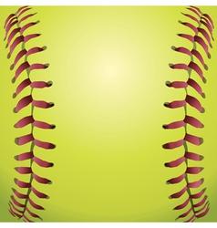 Closeup of a softball vector