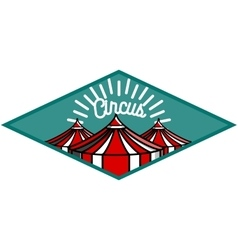 Color vintage circus emblem vector