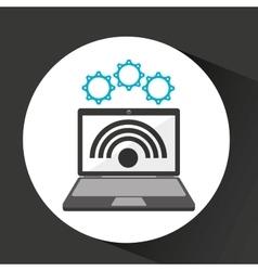 Computer security wifi social network concept vector