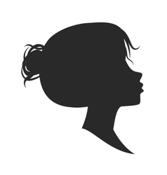 female silhouette isolated on white vector image vector image