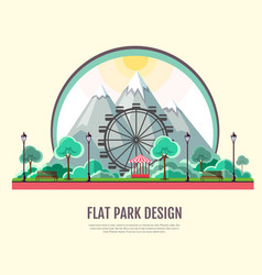 flat style modern design of public park vector image vector image