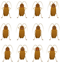 funny brown cockroach standing and smiling on a vector image vector image