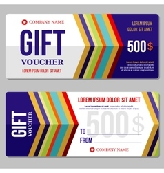 Gift discount voucher template vector