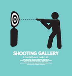 Gun Athlete At Shooting Gallery Symbol vector image