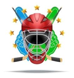 Ice hockey symbol design elements vector