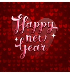 Lovely greeting happy new year card vector
