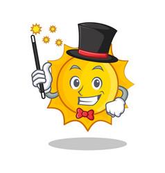 magician cute sun character cartoon vector image