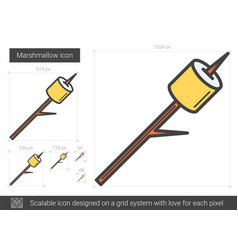 Marshmallow line icon vector