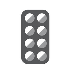 medical pill box gray icon on white background vector image vector image