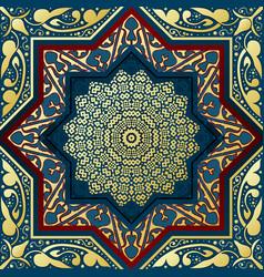 Ornamental arabic golden elements pattern vector