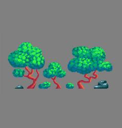 pixel art game design elements vector image vector image