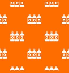 Printer ink bottles pattern seamless vector