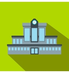 Railway station flat icon vector