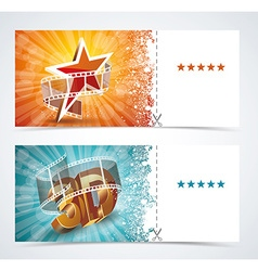 Realistic cinema movie poster event card template vector