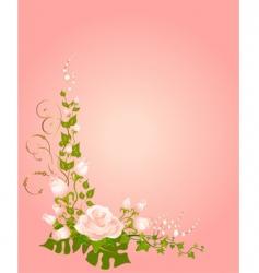 Roses border vector