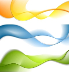 Shiny waves banners vector image vector image