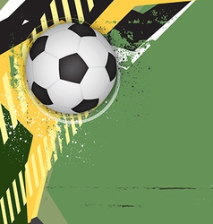 soccer grunge background design vector image vector image