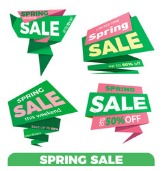 Spring sale sale label price tag banner badge vector