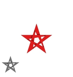 Star logo isolated graphic design decoration vector image