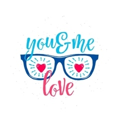sunglasses with hearts in vector image vector image