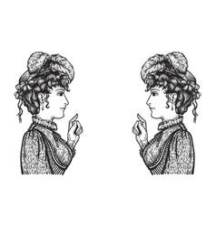 Arguing women vector