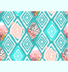 tribal mexican vintage ethnic seamless vector image