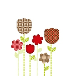 Flowers cut with different patterns vector