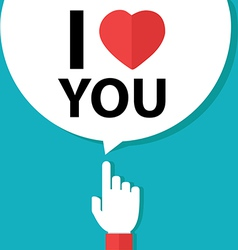 I love you forefinger with bubble vector
