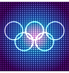 Glowing olympic rings background eps10 vector