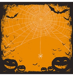 Halloween background with spider web vector