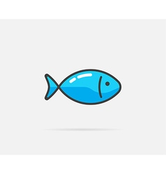 Fish can be used as Logo or Icon vector image