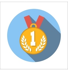1st place medal flat icon vector