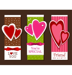 Valentines day postcards vector