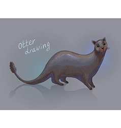 Otter drawing vector