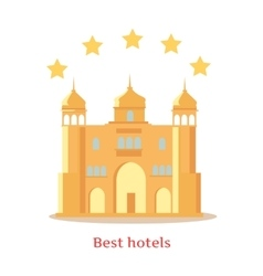 Best five stars indian hotels concept vector