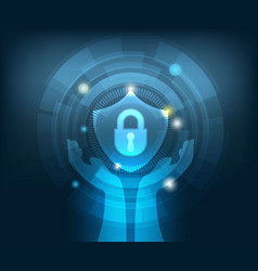 abstract network security technology background vector image vector image