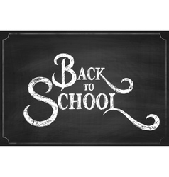 Back to school chalk hand drawing background vector