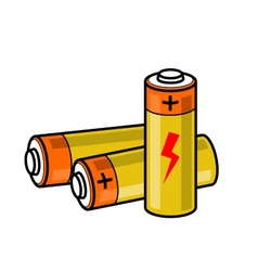 Batteries icon vector