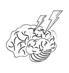 brainstorm idea creativity think sketch vector image