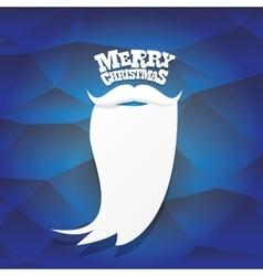Christmas hipster santa claus greeting card vector