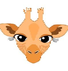 Cute Giraffe Portrait of Small Rectangles vector image vector image