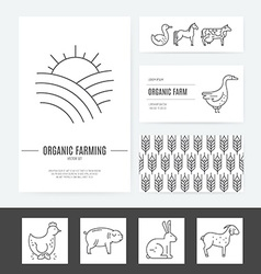 Farming Business Identity vector image